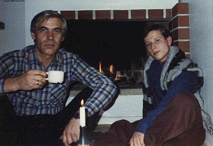 С Николаем Михайловичем Терентьевым, 15.11.1996. Финляндия.